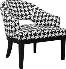 macy houndstooth linenlook fabric accent chair – black and white