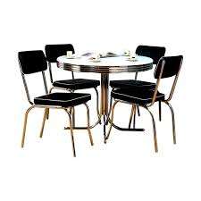tms furniture retro black dining set with round
