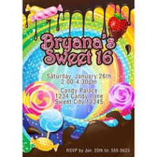 candyland sweet 16 invitations. Teenage Dream Chocolate And Sweet Candy Katy Perry Candyland Invitation 16 Invitations Birthday Throughout