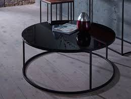 fancy small round black coffee table 5 glass furniture