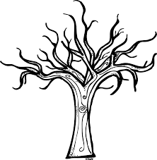 Small Picture Bare Tree Coloring Page Coloring Home