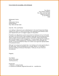 Best Solutions Of Cover Letter For The Post Of Senior Accountant