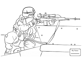 Coloring Pages Of Army Soldiers Soldier For Children 918903