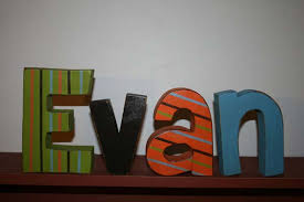 Wooden Letters Design Cute Ideas For Making Wooden Letters For Baby Room With Stripes