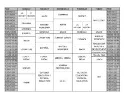 Academic Weekly Calendar Academic Weekly Schedule Of Instruction