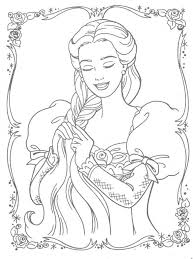 Small Picture Barbie Rapunzel Braiding Her Hair Coloring Page Online Coloring