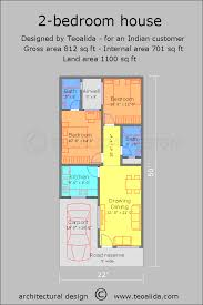 architectural plans of houses. 2BHK House Plan Architectural Plans Of Houses