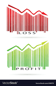 Profit And Loss Graph Vector Image On Vectorstock