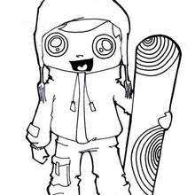 Snowboarding Girl Coloring Pages Hellokidscom
