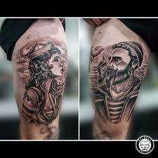 Pitbull Tattoo On Twitter Old School Black Grey Tattoo Pitbull