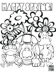 Welcome Spring Coloring Pages Welcome Spring Coloring Sheets Welcome