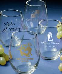9 ounce personalized stemless wine glasses gift boxes