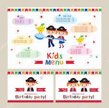 6 Children Party Menu Designs Templates Free Premium