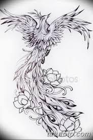 эскизы тату феникса для девушек 08032019 015 Tattoo Sketches