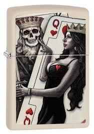 <b>Зажигалка ZIPPO</b> 29393 Skull King <b>Queen</b> Beauty