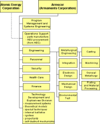 Organization Chart Of South Africas Nuclear Weapons Program
