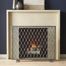 corbett silver fireplace screen