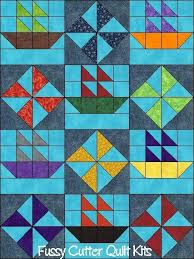 206 best Sailboat Quilts images on Pinterest | Boats, Contemporary ... & Fast Easy Beginner Baby and Children's Pre-Cut Quilt Blocks Kits Blankets  Fast Easy Beginner Patchwork Pattern Pre-Cut Quilt Block Kits, Beginner  Quilting, ... Adamdwight.com