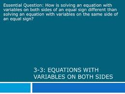 3 3 equations with variables on both sides