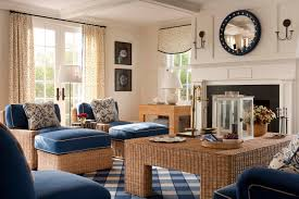 indoor beach furniture. Beautiful-traditional-living-room-with-wicker-furniture-and- Indoor Beach Furniture