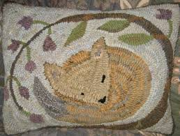 cozy fox by marijo taylor pattern only or complete rug hooking kit
