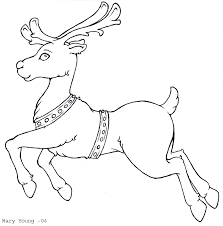 Small Picture Santa And Reindeer Coloring Pages GetColoringPagescom