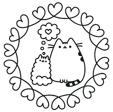 Cats In Love Pusheen Coloring Pages 5 Futuramame