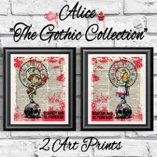 zombies alice in wonderland mad hatter on antique dictionary book pages gothic art pagepages