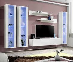 seattle 13 gloss white modern tv wall