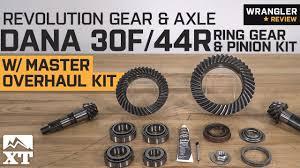 Jeep Jk Regear Chart Jeep Wrangler Revolution Gear Axle Dana 5 13 30f 44r Kit 2007 2018 Jk Jl Review