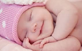 good night sleeping baby smile