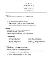 Teacher Resume Template 2018