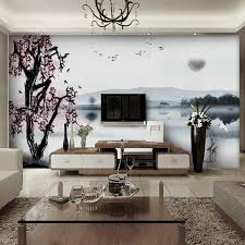 Wall Mural For Living Room Chinese Landscape Decal Wall Mural Design Decoration For Elegant