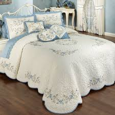 Vintage Charm Embroidered Quilted Bedspread Bedding   Bedspread ... & Vintage Charm Embroidered Quilted Bedspread Bedding Adamdwight.com