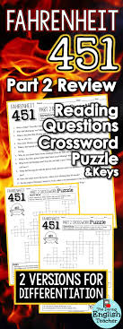 ideas about fahrenheit ray bradbury books fahrenheit 451 part 2 study guide questions and comprehension crossword puzzle