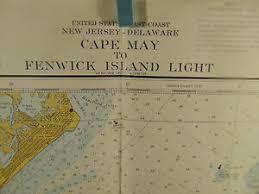 Details About 2 Cape May Marine Charts Coast Geodetic Survey Geography British Surveys 908