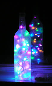 Glass Bottle Lamps Christmas Crafts With Wine Bottles Frosted Wine Bottle Light