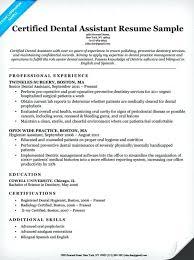Dental Radiology Certification Dental Assistant Resume Template Get