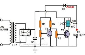 electronic circuit projects self regulating, automatic lead acid 12 volt battery charger circuit diagram pdf at Battery Charger Block Diagram