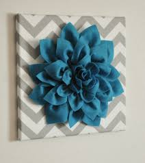 popular items for 3d wall flower on etsy dark turquoise dahlia gray and white chevron 12 apartment large size  on large 3d flower wall art with popular items for 3d wall flower on etsy dark turquoise dahlia gray