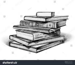 stack books isolated on white hand stock ilration 408748264