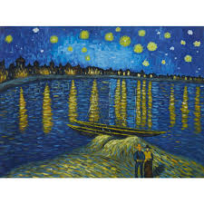 vincent van gogh the starry night over the rhone hand painted zoom