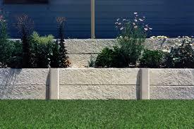 two tier garden limestone wall