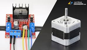 control stepper motor with l298n motor