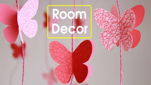Room Decorating With Paper Diy Butterflies Wall Room Decor Make Paper Butterflies Easy