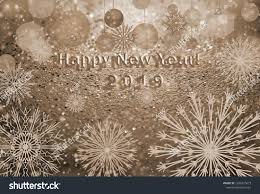 Caption Happy New Year 2019 Christmas Stock Illustration 1236210673