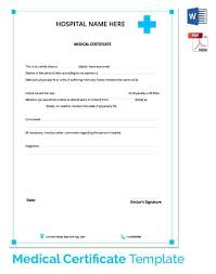 Free Sample Medical Certificate Copy Template Insurance