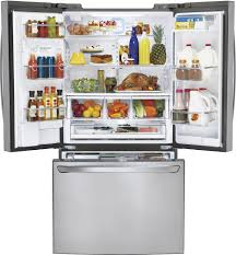 French Door 22 cubic foot french door refrigerator pictures : LG - 24.0 Cu. Ft. Counter-Depth French Door Refrigerator with Thru ...