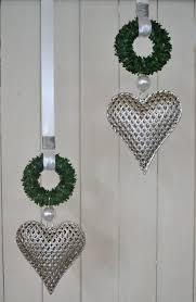 Fensterdeko Herz Metall 16x145 Cm Minibuchskranz Perlen