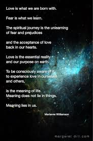 Love Is What We Are Born With Marianne Williamson Quote